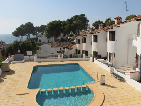 Apartment - For sale - Moraira - Fully reformed 1 Bed Apartment with Sea Views Only